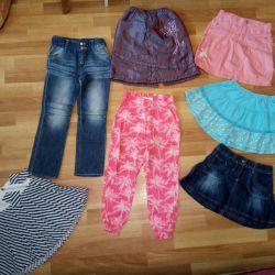 Джинси, штани і спідниці зростання 110-116