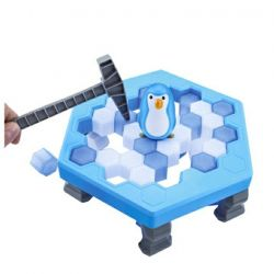 Penguin in the ice trap. New