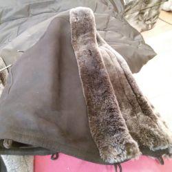 Φυσικό παλτό από δέρμα προβάτου 46p