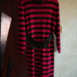 The dress is warm knitted