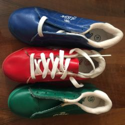 Δερμάτινα πάνινα παπούτσια νέων παιδιών