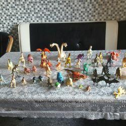 Детские игрушки.Большая коллекция динозавров.