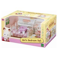 Sylvanian Families Children's room white and pink
