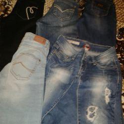 Jeans pantaloni condiție nou preț 100-500