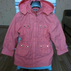 Light jacket (windbreaker, raincoat) for a girl of 6-7 years old