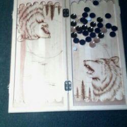 Backgammon carved