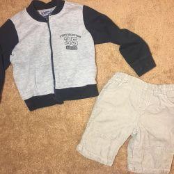 Bluza și pantaloni scurți pentru copii. Babayka