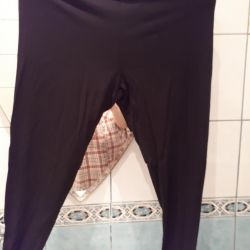 Leggings are black new !! р.54-56