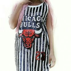 New dress in sequins bulls 23