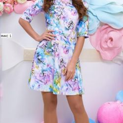 Λεπτό φόρεμα Mix1 rr S