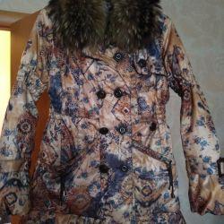 Branded down jacket