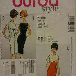 BURDA retro dress pattern