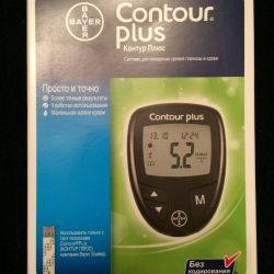 Glucometer Bayer Contur +. New, pack. Not showdown