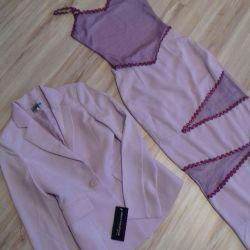 Mezuniyet elbisesi-üç hafifçe leylak rengi