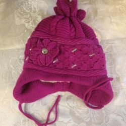 New winter hat for girl 6-8 years