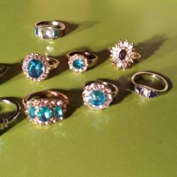 The most beautiful set of rings of different sizes