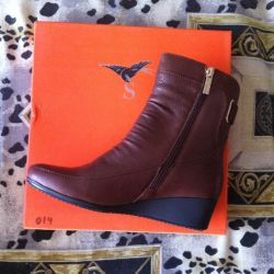 Boots, 36r autumn, leather, NOT B / Y