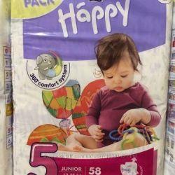 Diapers Happy 5 58pcs