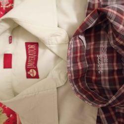 Рубашки школьные для мальчика 146/152см.