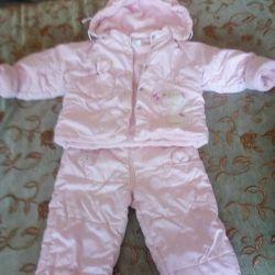 Jacket and pants demi-season on a girl