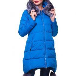 Δερμάτινο παλτό με φυσική γούνα. Μεγέθη: S, M, XL