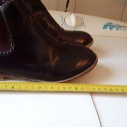 Autumn leather boots.
