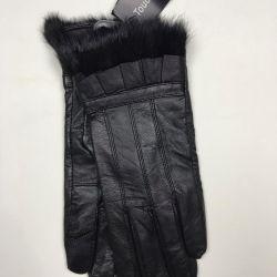 New leather black gloves
