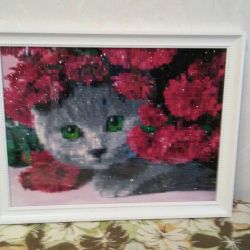 30x40 under glass in a frame