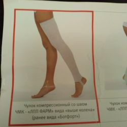 Thigh compression stocking (pair)