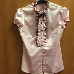 Blouse and trousers satin pink color 42 r