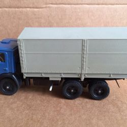 Model scale 1/43 Kamaz-5320 with an awning