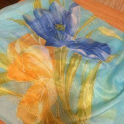 Воздушный весенний шарфик
