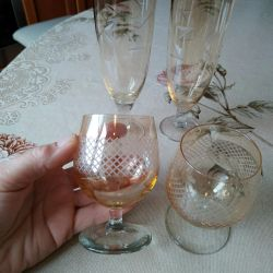 champagne and brandy glasses
