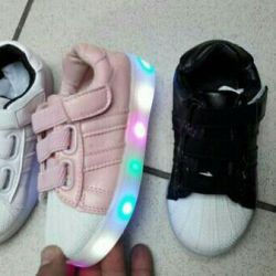 Sneakers glowing