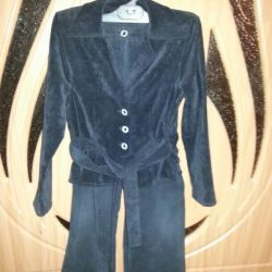 Black corduroy three piece suit for 140rost