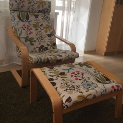 Ikea armchair and pouf