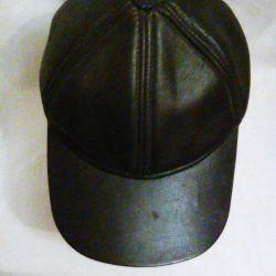 deri beyzbol şapkası