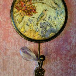 Вешалка ключница подврки декупаж рукоделие декор