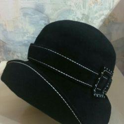 New felt hat