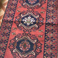 Handmade rug pile wool