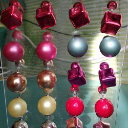 Stud Earrings. 50 rubles for each.