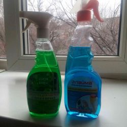 Glass cleaner.