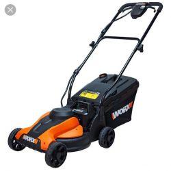 lawn mower rechargeable worx wg773e