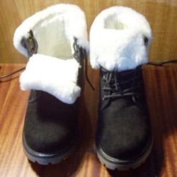 Men's boots, on fur, from suede, 40 sizes