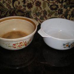 6 liter pots of hardened ceramics