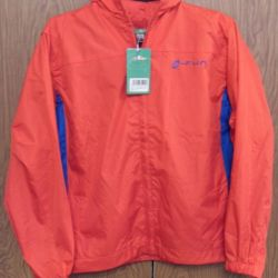 New red windbreaker for a boy height 152