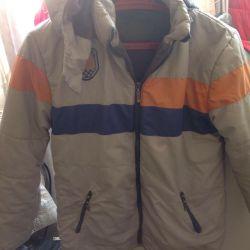 Bir polar astar üzerinde bir erkek için ceket