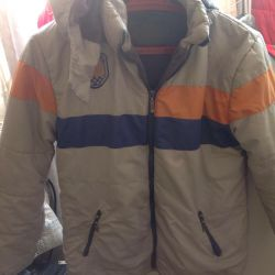 Jacket for a boy on a fleece lining