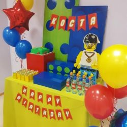 Decoration for children's holiday Lego