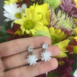 Earrings crystal new stud